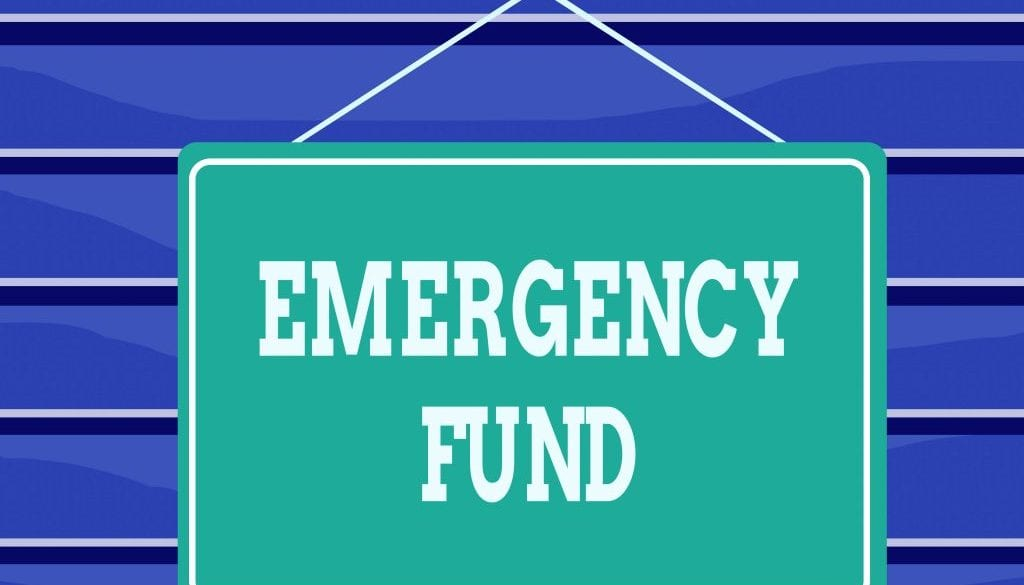 Conceptual hand writing showing Emergency Fund. Business photo text Money which is set aside for an emergency situation Memo reminder empty board attached background rectangle.